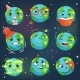 Earth Emoji Showing Different Emotions