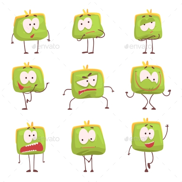 Green Humanized Purse - Miscellaneous Characters