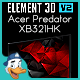 Acer Predator XB321HK for Element 3d