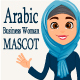 Mascot Arabic Business Woman