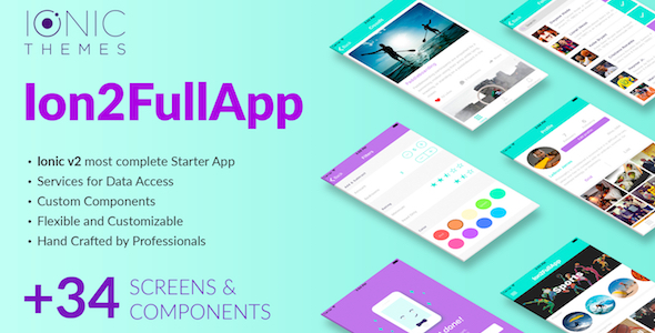 Ion2FullApp - Full Ionic 2 App Template Best Scripts
