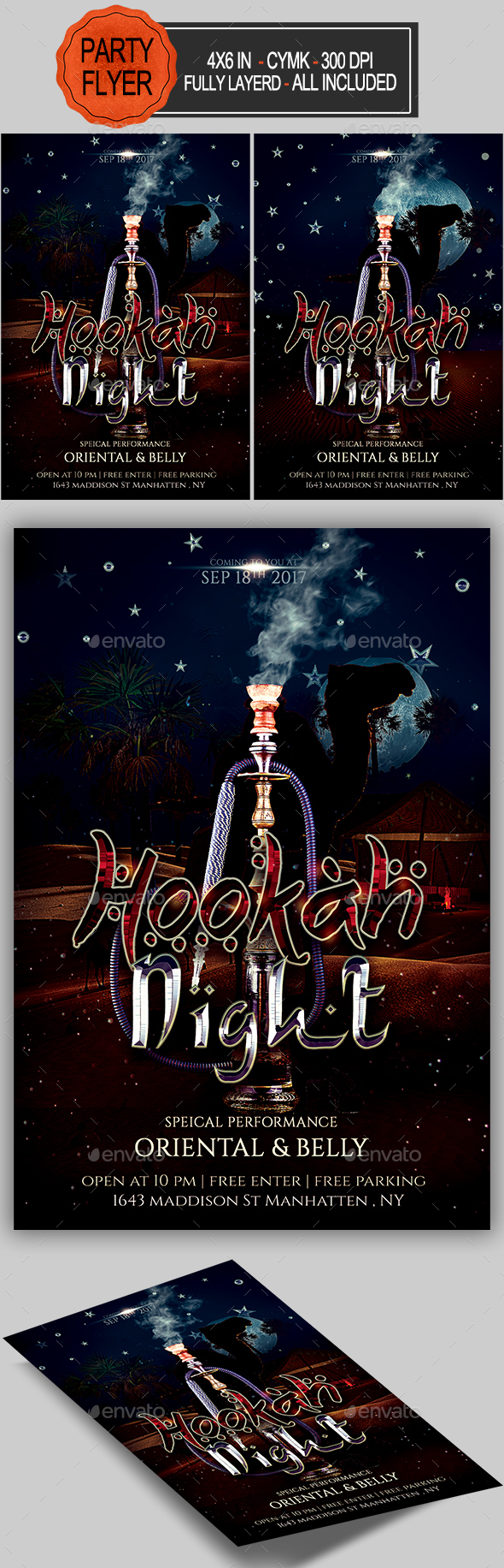 GraphicRiver Hookah Flyer 20312140
