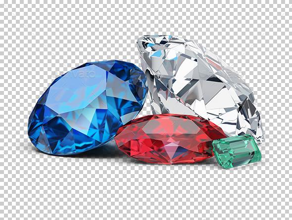 Gems - Objects 3D Renders
