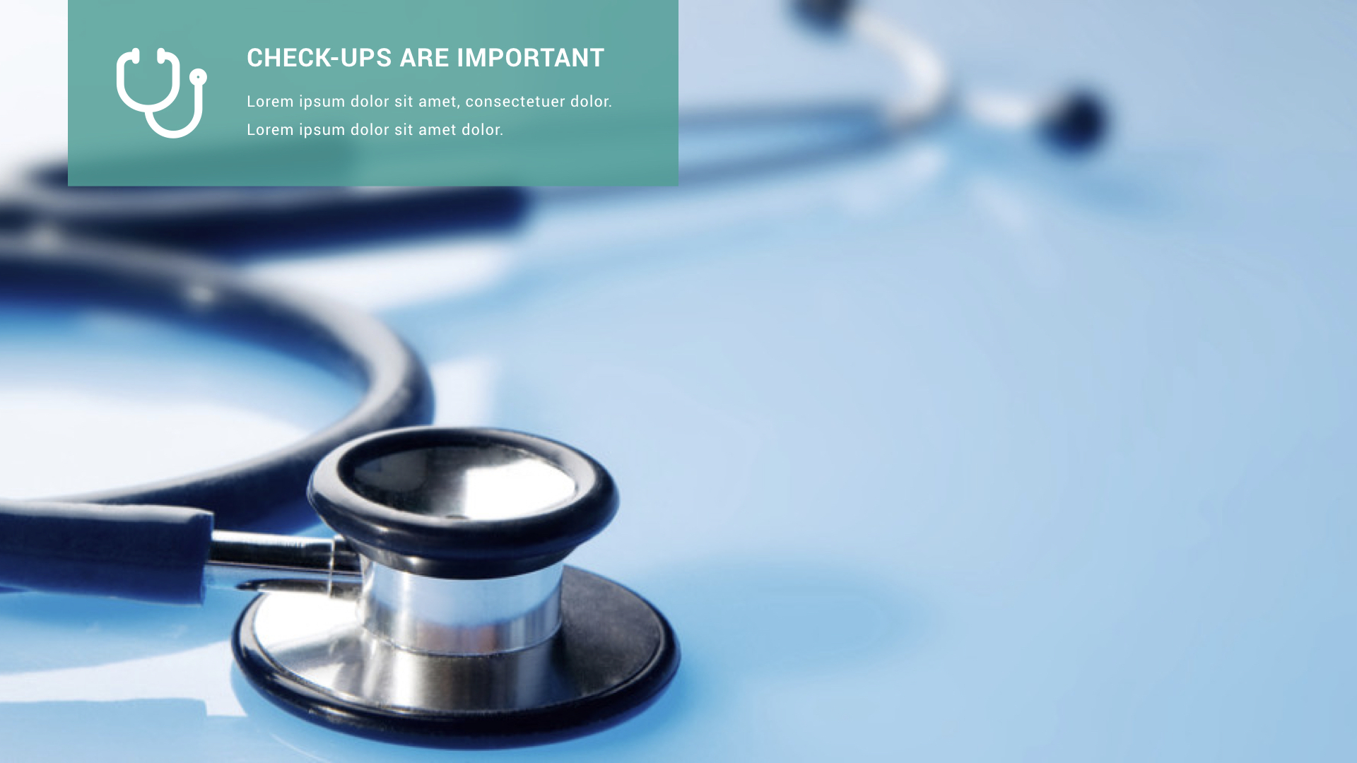 healthcare and medical keynote presentation template by