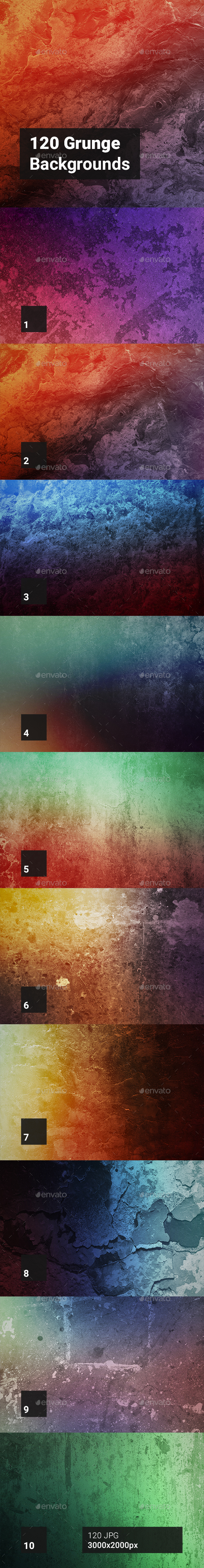 120 Grunge Backgrounds - Abstract Backgrounds