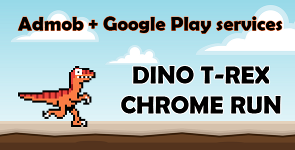DINO T-REX CHROME RUN - ANDROID - CodeCanyon Item for Sale