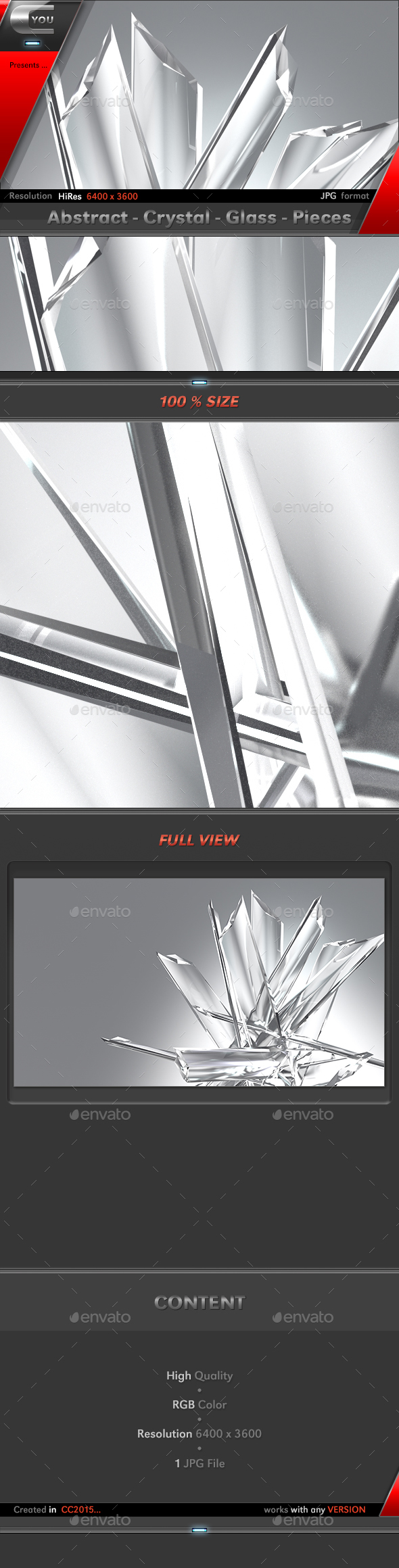 GraphicRiver Abstract Crystal Glass Pieces 20313291