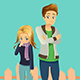 Young Couple Outdoor - GraphicRiver Item for Sale