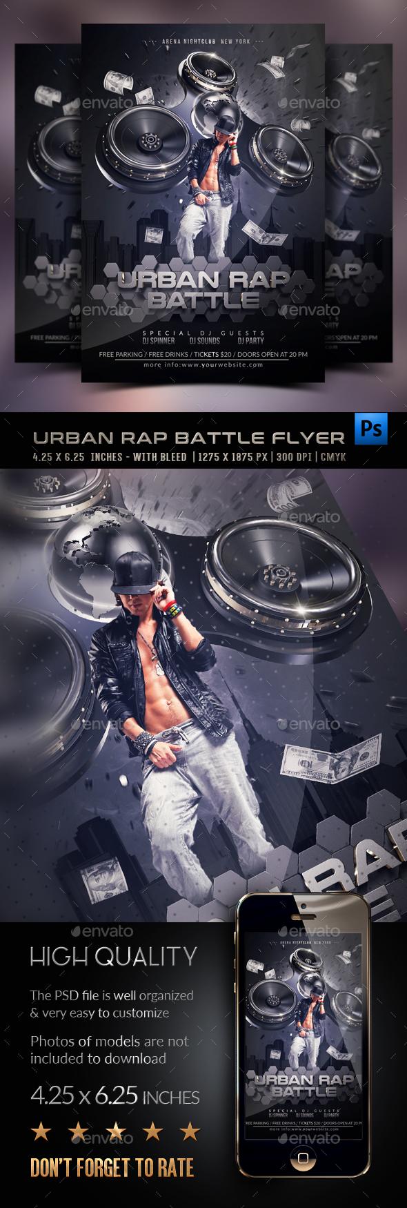 Urban Rap Battle Template - Clubs & Parties Events