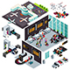 Isometric Design of an Airport - GraphicRiver Item for Sale