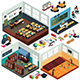 Isometric Design of School Buildings and Classrooms - GraphicRiver Item for Sale