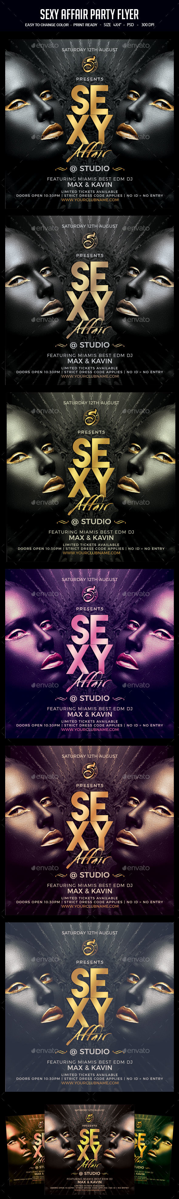 Sexy Affair Party Flyer - Clubs & Parties Events