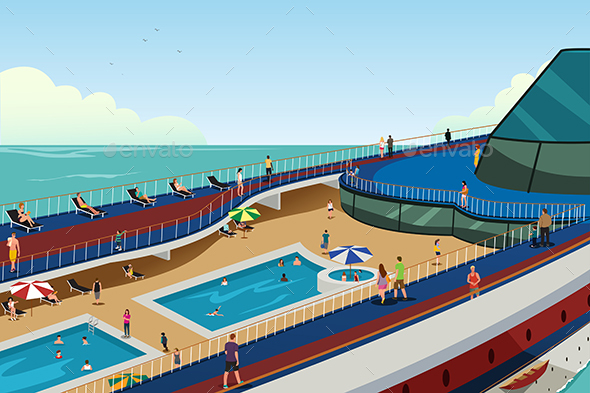 People on Cruise Vacation - Travel Conceptual