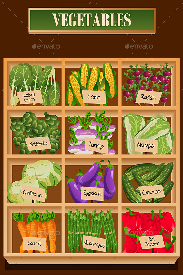GraphicRiver Different Kinds of Vegetables in a Box 20313632