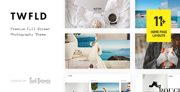 TwoFold - Fullscreen Photography Theme nulled free download