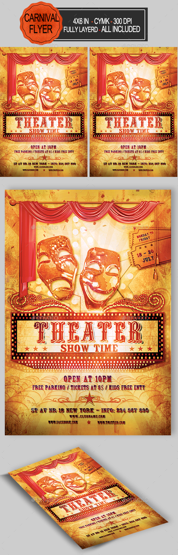GraphicRiver Theater Flyer Template 20313765