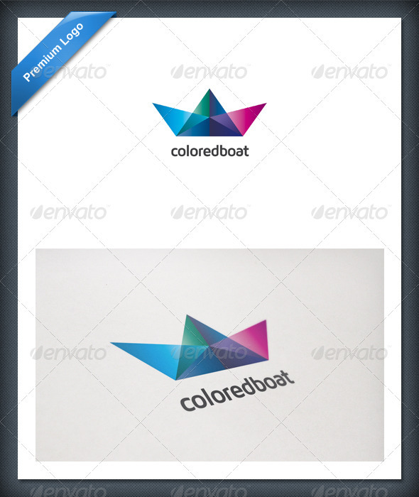 Colored Boat Logo Template - Objects Logo Templates