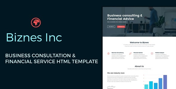 Biznes Inc - Business Consulting and Financial Services HTML Template