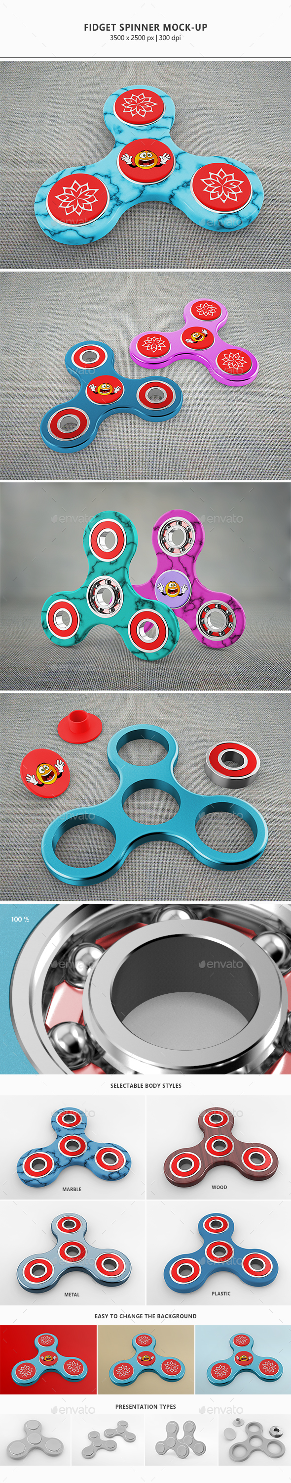 Fidget Spinner Mock-Up - Miscellaneous Product Mock-Ups