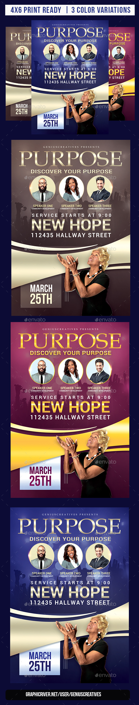 Purpose Church Flyer Template - Church Flyers