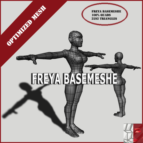 Freya basemeshe - 3DOcean Item for Sale