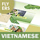 Vietnamese Pho Menu Flyers 3 – 4 Options - GraphicRiver Item for Sale