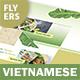 Vietnamese Pho Menu Flyers 3 – 4 Options