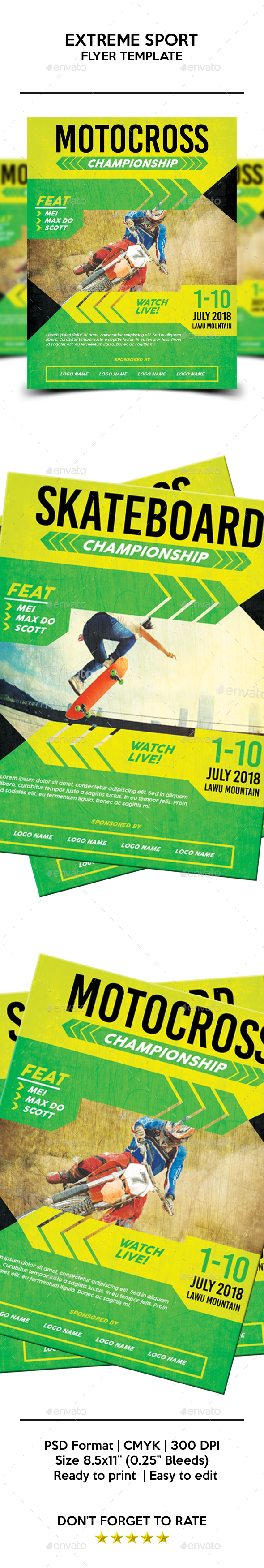 Extreme Sport Flyer Template - Sports Events