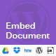 Embed Document from Media Library, Google Drive, Dropbox, and Box (WordPress)
