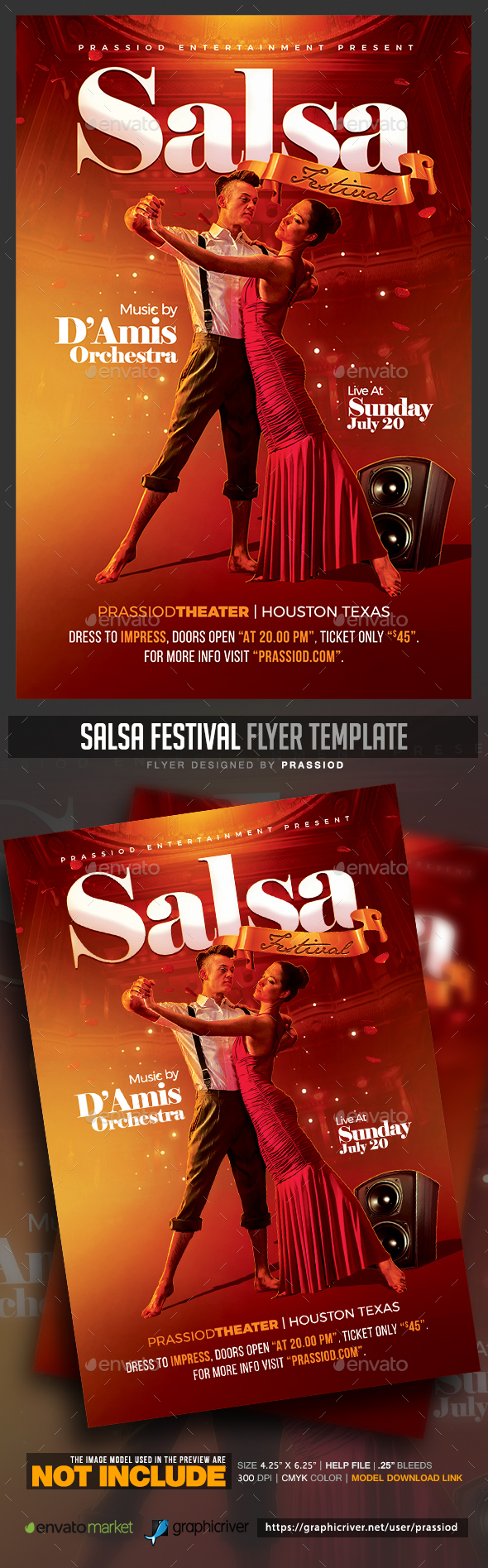 Salsa Festival Flyer Template - Clubs & Parties Events