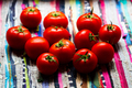 Red tomatoes natural light, top view - PhotoDune Item for Sale