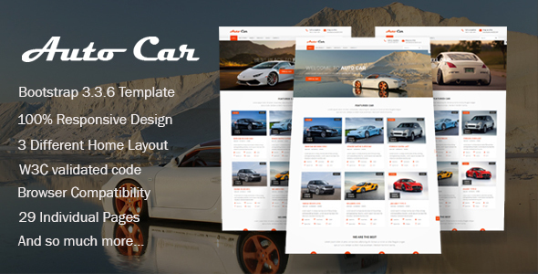ThemeForest Auto Car Car Dealer HTML Template 20138554