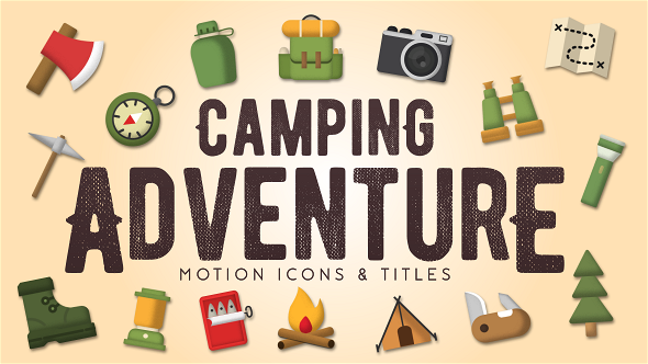 Camping adventure motion icons titles nature after for Motion 5 title templates