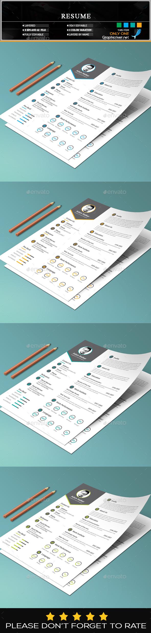 GraphicRiver Resume 20314869