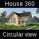 360 Circular Flight Around The Wooden House