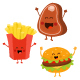Cute Fast Food Characters Set - GraphicRiver Item for Sale