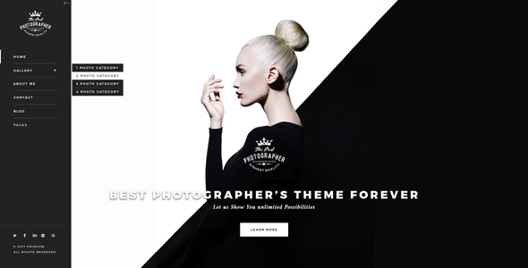 Photography bootstrap theme