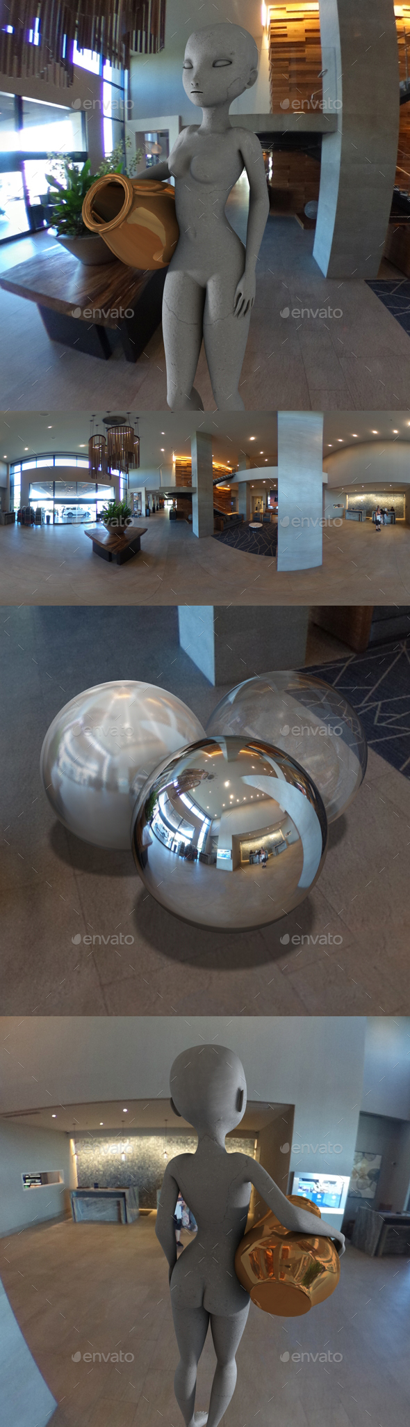 Modern Hotel Lobby HDRI - 3DOcean Item for Sale