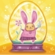 Easter Bunny inside of snow-dome - GraphicRiver Item for Sale