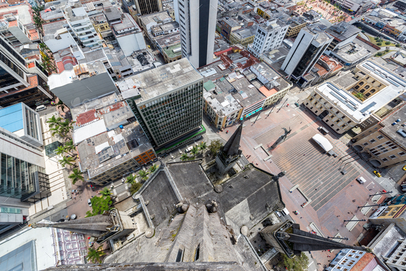 Looking Down from a Cathedral - Stock Photo - Images