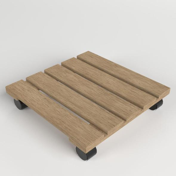 Wooden Flower Moving Dolly Tray - 3DOcean Item for Sale