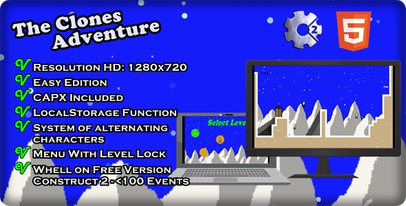 The Clones Adventure | Construct 2 - Template(.capx) - CodeCanyon Item for Sale
