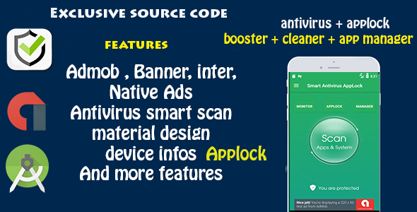 Antivirus + Applock + Booster + Cleaner + AppManager - CodeCanyon Item for Sale