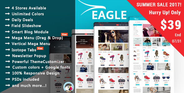 Eagle - Shopping & Accessories Responsive Prestashop Theme - Fashion PrestaShop