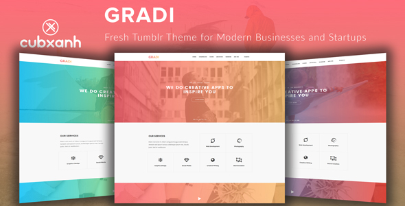 Gradi - Fresh Tumblr Theme for Modern Businesses and Startups