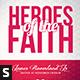 Heroes of the Faith Church Flyer