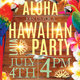 Hawaiian Beach Party Flyer