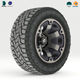 Off road wheel and tire 2 - 3DOcean Item for Sale