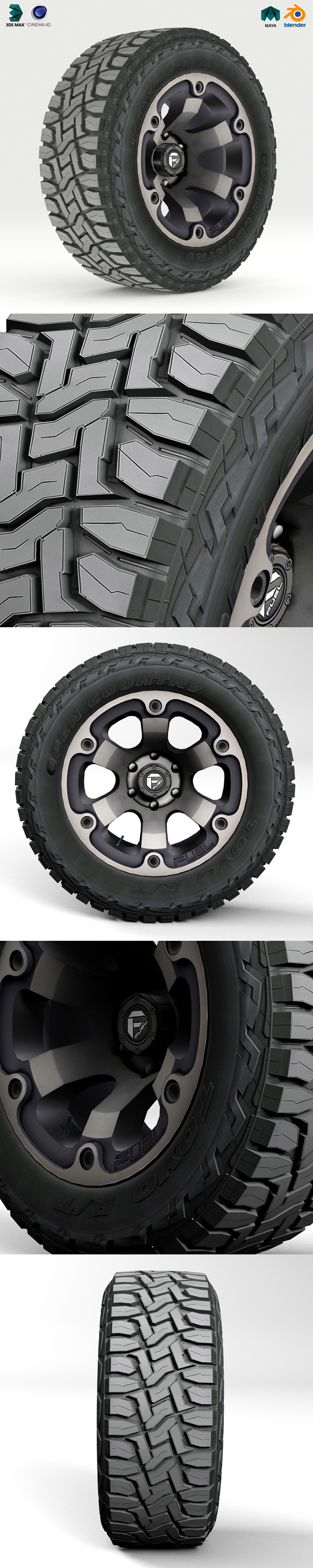 3DOcean Off road wheel and tire 2 20315830