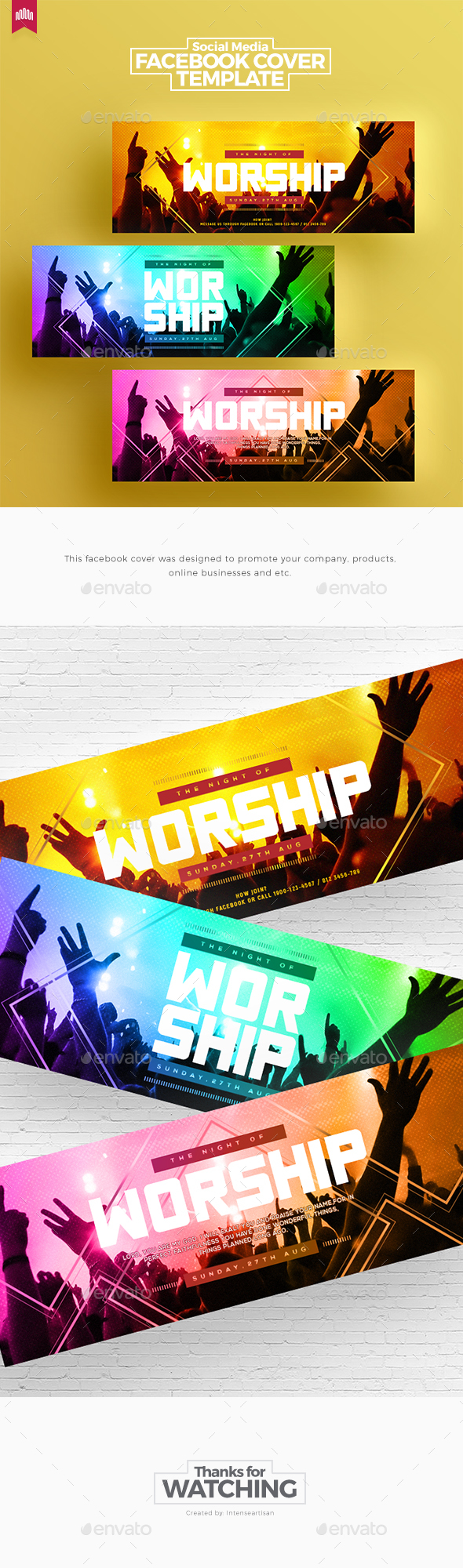 GraphicRiver Church Facebook Timeline Covers V.3 20315838
